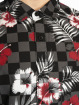 Southpole Shirt Flower & Checker Print black
