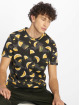 Southpole T-Shirt Watermelon & Flamingo Print black 0