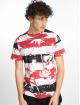 Southpole T-Shirt Palm Tree Stipe Print red 2