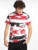 Southpole T-Shirt Palm Tree Stipe Print rot 0