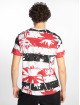 Southpole T-Shirt Palm Tree Stipe Print rot 1