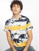 Southpole T-skjorter Palm Tree Stipe Print blå 0