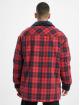 Southpole Übergangsjacke Check Flannel Sherpa rot