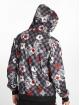 Southpole Zip Hoodie Floral Checker Fleece bunt 1