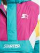 Starter Overgangsjakker Color Block Half Zip Retro turkis