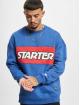 Starter Pullover Color Block Crew blau