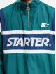 Starter Übergangsjacke Half Zip Retro grün