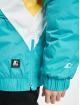 Starter Zomerjas Color Block Half Zip Retro turquois