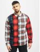 Stüssy Koszule Mixed Tartan Button Down czerwony