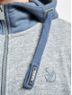 Sublevel Hoodies con zip Zeno blu