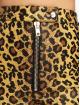 The Ragged Priest Spodnie wizytowe Leopard PU Motor brazowy