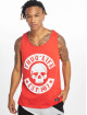 Thug Life Tank Tops B.Distress red 2