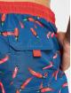 Urban Classics Badeshorts Pattern Retro blå