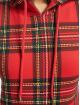 Urban Classics Bluzy z kapturem Ladies AOP Tartan czerwony