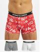 Urban Classics Bokserki Boxer Shorts 3-Pack Hohoho czerwony