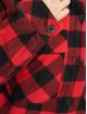 Urban Classics Bundy na přechodné roční období Ladies Flanell Padded Overshirt čern