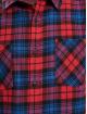 Urban Classics Camicia Checked Flanell rosso
