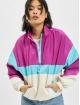 Urban Classics Chaqueta de entretiempo 3-Tone Stand Up Collar Pull Over púrpura