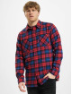 Urban Classics Chemise Checked Flanell rouge