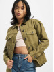 Urban Classics Giacca Jeans Ladies Oversized Shirt cachi