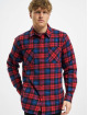 Urban Classics Hemd Checked Flanell rot