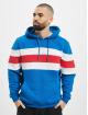 Urban Classics Hoodie Chest Striped blue