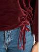 Urban Classics Hoodie Short Velvet Gathered red
