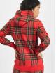 Urban Classics Hoodies Ladies AOP Tartan červený