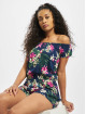 Urban Classics Jumpsuit Ladies All Over Print Off Shoulder Short blau