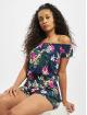 Urban Classics Jumpsuits Ladies All Over Print Off Shoulder Short blå
