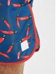 Urban Classics Kúpacie šortky Pattern Retro modrá