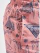 Urban Classics Kúpacie šortky Pattern ružová