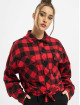 Urban Classics Košile Ladies Short Oversized Check čern