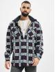 Urban Classics Lightweight Jacket Hooded Polar Fleece Overshirt blue