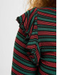 Urban Classics Longsleeve Rib Striped Volant groen