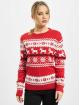 Urban Classics Maglia Ladies Norwegian Christmas rosso