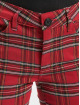 Urban Classics Pantalon chino Skinny Tartan rouge