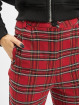 Urban Classics Pantalone chino Checker rosso