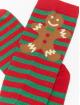 Urban Classics Ponožky Christmas Overknees èervená