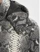 Urban Classics Prešívané bundy Hooded AOP šedá