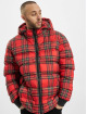 Urban Classics Puffer Jacket Hooded Check red