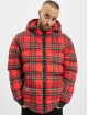 Urban Classics Puffer Jacket Hooded Check rot