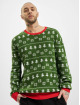 Urban Classics Pullover Green Trees Christmas green