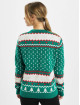Urban Classics Pullover Ladies Kitty Christmas green