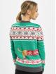 Urban Classics Pullover Ladies Sausage Dog Christmas grün