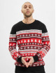 Urban Classics Pullover Snowflakes Christmas red