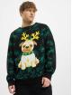Urban Classics Pullover Pug Christmas schwarz
