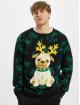 Urban Classics Pulóvre Pug Christmas èierna