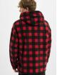 Urban Classics Sweat capuche Patterned Polar Fleece rouge