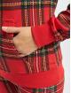 Urban Classics Sweat capuche Ladies AOP Tartan rouge